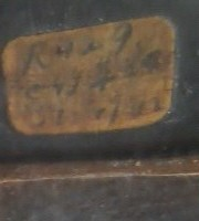 Old sticker on one of the panels