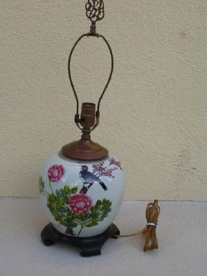 Antique chinese porcelain ginger jar table lamp ming dynasty aloadofball Images