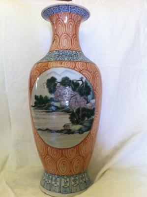 1st side of vase