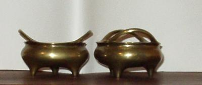 Chinese Brass Bowls (pair)