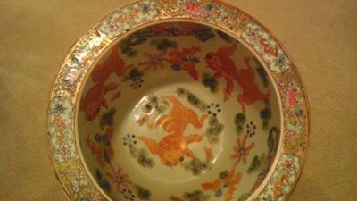 Chinese Fish Bowl Planter