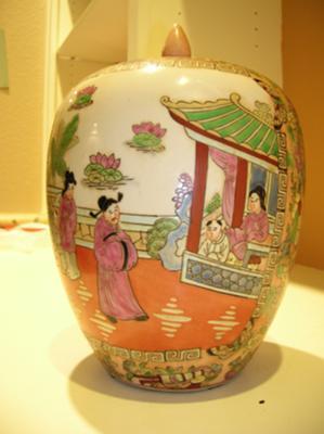 flower side of jar