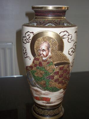 One side of vase