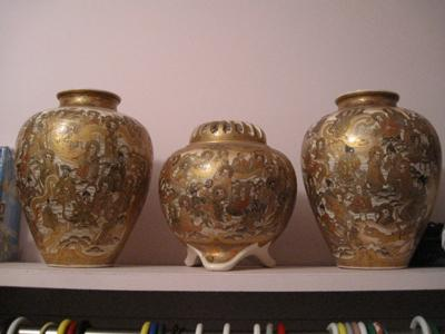 Three Chinese vases