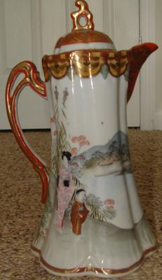 front of cocoa pot