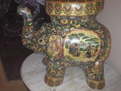 Hand Painted Royal Satsuma Elephant