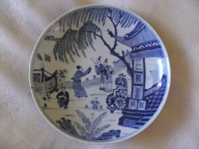 Showing front of plate/ dish