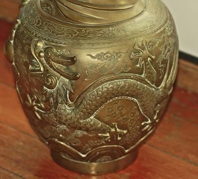 Old Chinese Bronze Vase Elaborate Seal Need Identification