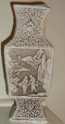 Oriental Carved Stone Vase