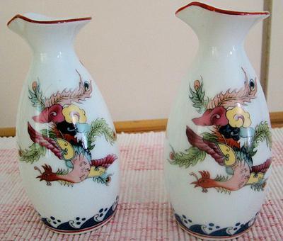 Oriental porcelain beakers