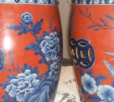 Pair of Chinese Garden Stools are they Antique or vintage? I bought them from a Chinese family in Vancouver BC Canada. 12  diameter x 19  height & Pair of Chinese Garden Stools islam-shia.org