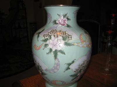 Reproduction Enamel Vase