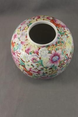 Vintage Hand Painted Thousand Flower Vase