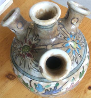 top of the vase