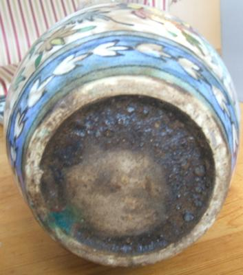 the bottom of the vase