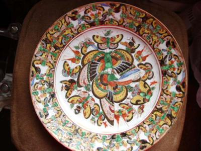 Chinese plate/1000 butterflies