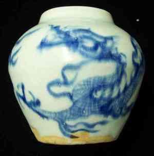 Yuan dynasty underglaze blue jarlet
