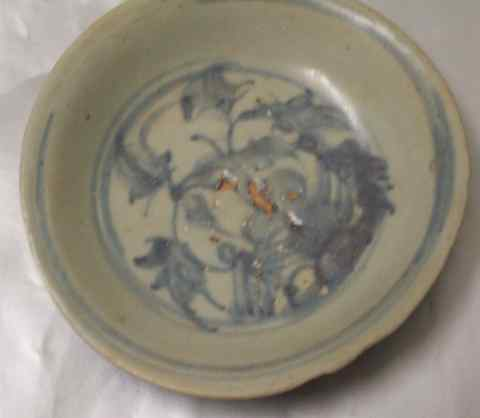 antique dish of Ming dynasty